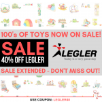SALE EXTENDED - 40% OFF Legler Toy Sale