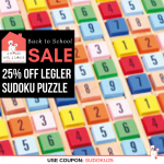 Sudoku Wooden Puzzle Game Back-To School Sale 25% OFF