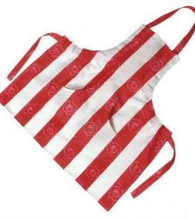 Gluckskafer - Red and White Childrens Apron