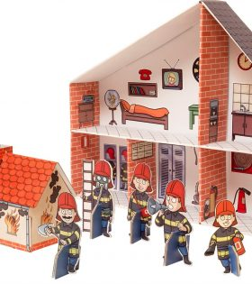 Legler - Fire Station Cardboard Doll's House