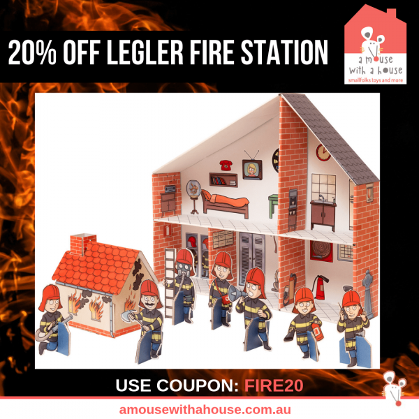 20% OFF Legler Fire Station Cardboard Doll's House