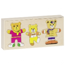 Goki - Bear design, dress up box, puzzle