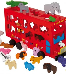 Legler - ABC Bus Animals Shape-Fitting Game