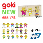 NEW ARRIVAL: Goki – Bear Design, Dress Up Box, Puzzle Toy