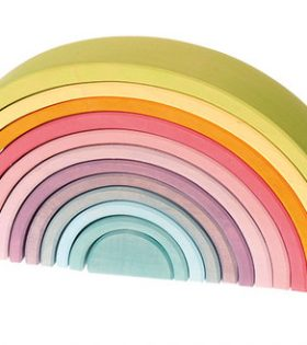 Grimms - Pastel wooden tunnel 12 pcs