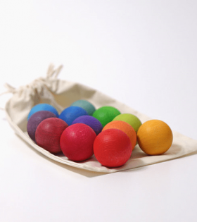 Grimms - Wooden Balls, rainbow set of 12